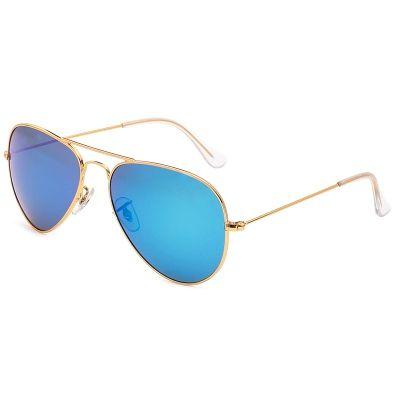 gafas de sol azul espejo, gafas de sol tipo aviador