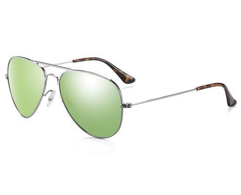 gafa de sol aviador verde claro